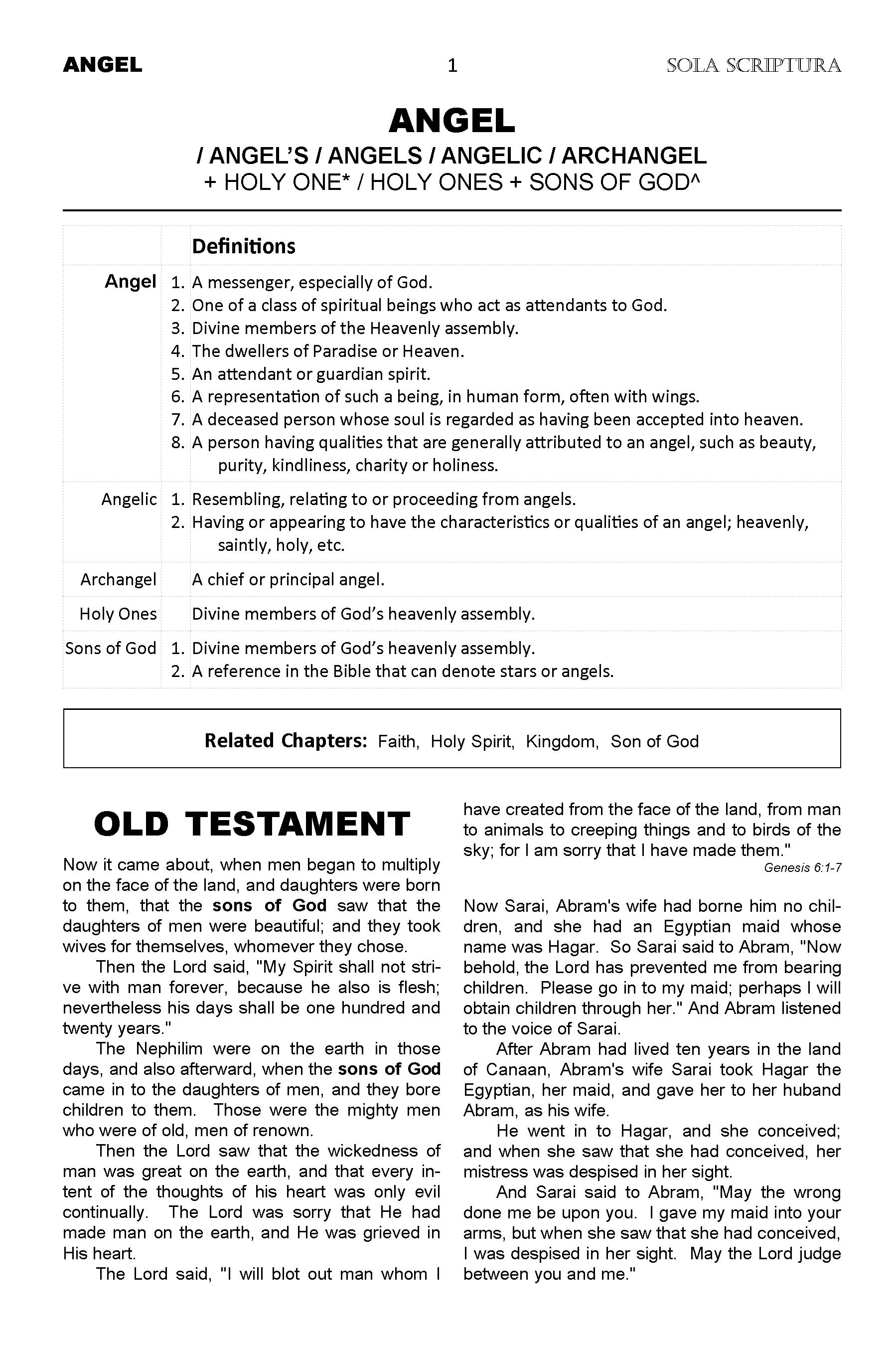 Sola Scriptura - Angel chapter