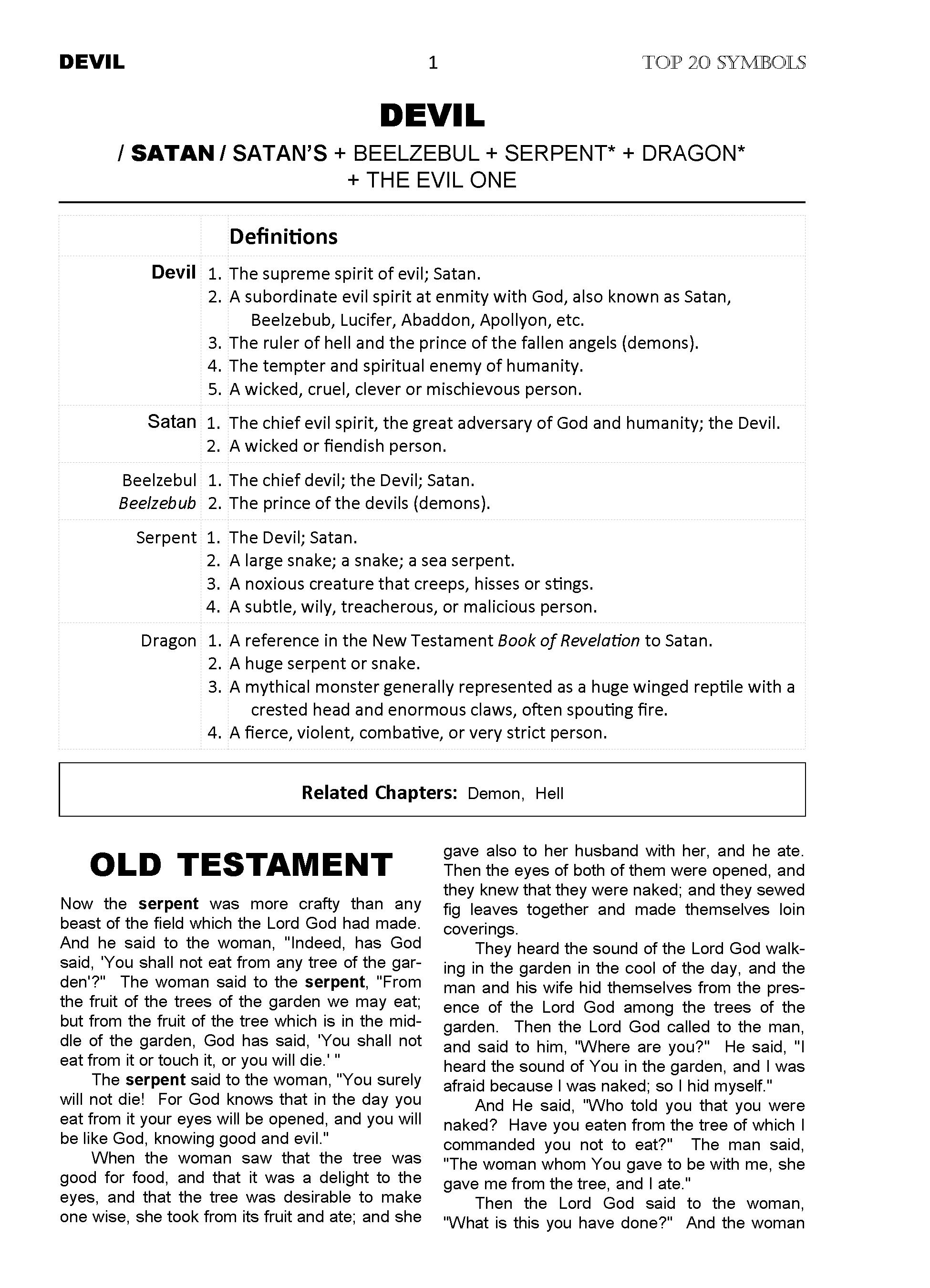Sola Scriptura - Devil chapter