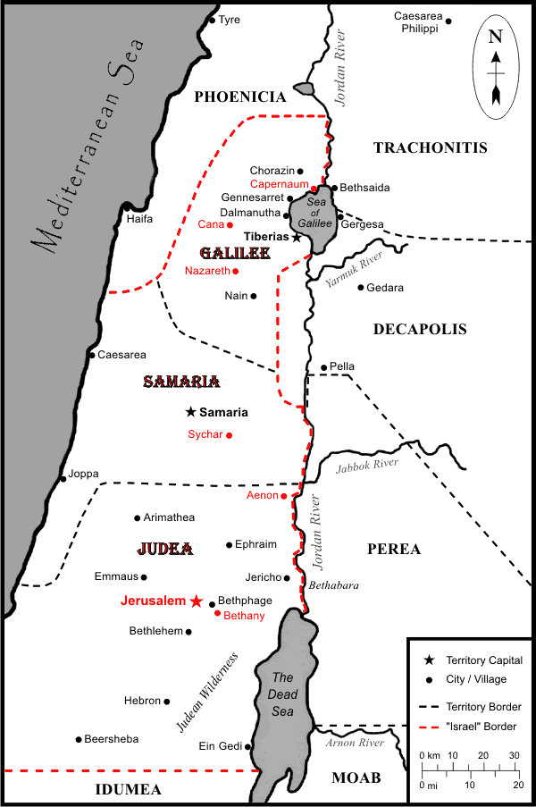 TSG Map of Israel