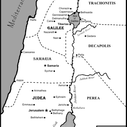 Map of Israel - black