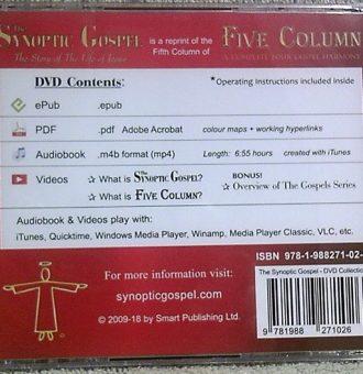 The Synoptic Gospel - DVD back Cover 600